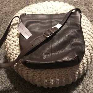 Brown Nine West leather crossbody purse